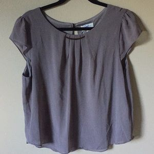 Grey blouse, size XL with gold accent